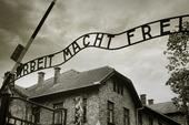 Entré till koncentrationslägret Auschwitz, Polen