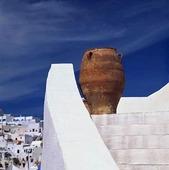 Trappa på Santorini, Grekland