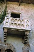 Romeo o. Julias balkong i Verona, Italien