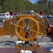 Båtratt på segelbåt