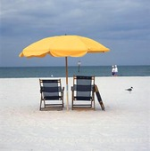 Vilstol och parasoll