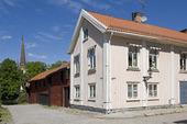 Gamla trähus vid Storgatan i Arboga, Västmanland