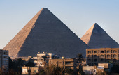 Giza pyramiderna vid Kairo, Egypten