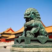 Bronslejon i Den förbjudna staden, Kina