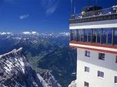 Utsikt från Zugspitze, Tyskland
