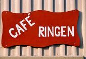 Caféskylt i Alingsås, Västergötland