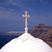 Kyrkkupol, på Santorini, Grekland