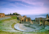 Grekiska teatern Taormina på Sicilien