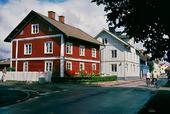 Gammal bebyggelse i Hjo ,Västergötland