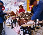 Marknad i Chamonix, Frankrike
