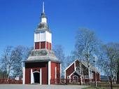 Jukkasjärvi kyrkplats i Torne, Lappland