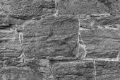 Stenmur i svartvitt