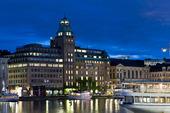 Radisson hotel vid Nybroviken, Stockholm