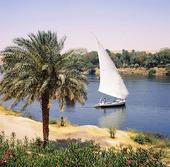 Segelbåt på Nilen, Egypten