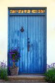 Blå dörr