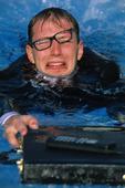 Affärsman i pool