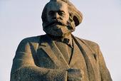 Staty av Marx i Moskva, Ryssland