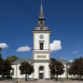 Hjo kyrka vid Stora torget, Västergötland