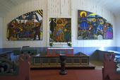 Bror Hjorts altartavla i Jukkasjärvi kyrka