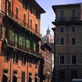 Husfasader i Rom, Italien