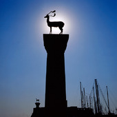 Deer statues in Rhodes, Greece