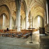 Interiör från Vadstena klosterkyrka,