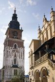 Stora torget i Krakow, Polen