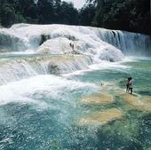 Agua Azul vattenfall i Chiapas, Mexico