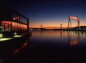 Gothenburg harbor in the twilight