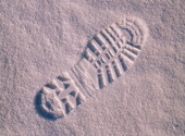 Fotspår i snö