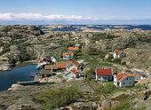 Kustbebyggelse på Dyngö, Bohuslän