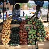 Marknad i Transvaal, Sydafrika