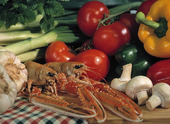 Grönsaker och havskräftor