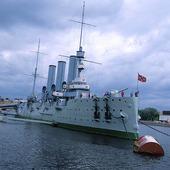 Krigsfartyg i St Petersburg, Ryssland