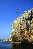 Hopp från klippor