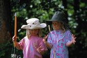 Flickor som fiskat