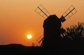 Väderkvarn i solnedgång, Öland