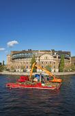 Muddring vid Riksdagshuset Stockholm
