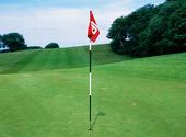 Hålmarkering på golfbana