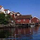 Sjöbodar på Tjörnekalv, Bohuslän