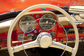 Mercedes veteranbild från 50 talet