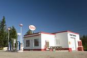 Retro Esso bensinmack, Hälsingland