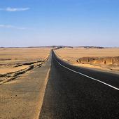 Landsväg genom öken, Egypten