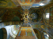 Ceiling Detail. Church on Spilled Blood. St. Petersburg. Russia