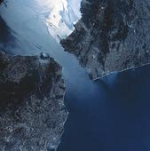 Satellitbild över Gibraltar sund