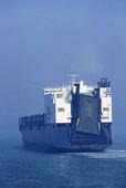 Containerfartyg under gång