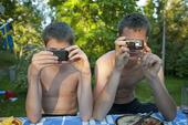 Två fotografer