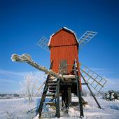 Väderkvarnar vintertid, Öland