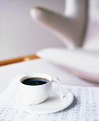 Kaffekopp på notblock