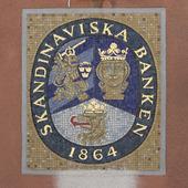 Skandinaviska banken i Arboga i mosaik, Västmanland
